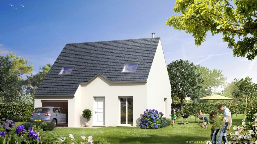constructeur mikit saint nazaire pr sente sa maison angelie. Black Bedroom Furniture Sets. Home Design Ideas