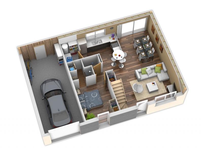 maison bois 1 chambre