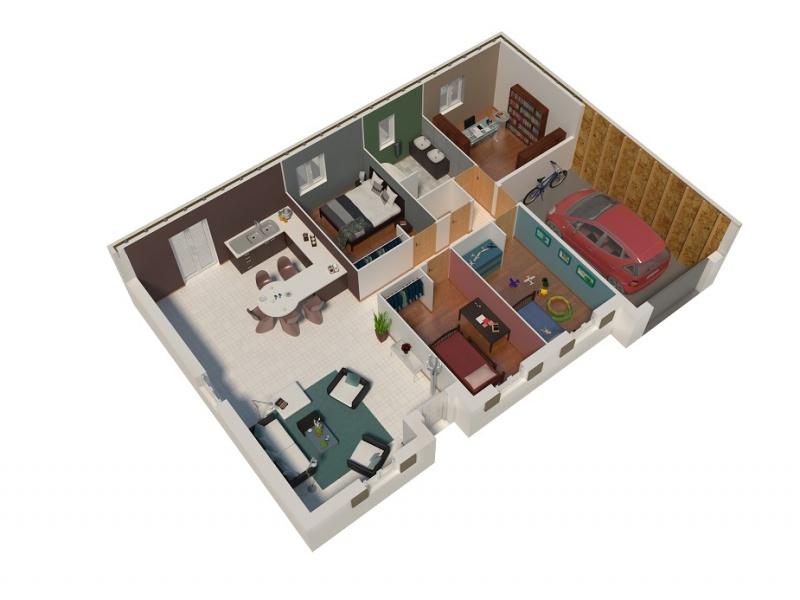 constructeur natilia amiens pr sente sa maison natizen 3 chambres. Black Bedroom Furniture Sets. Home Design Ideas